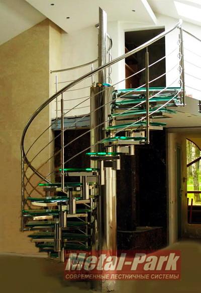 Винтовая модульная лестница из нержавеющей стали