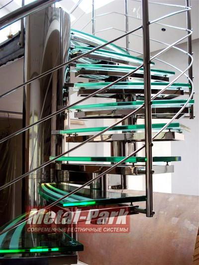 Винтовая модульная лестница из нержавеющей стали1