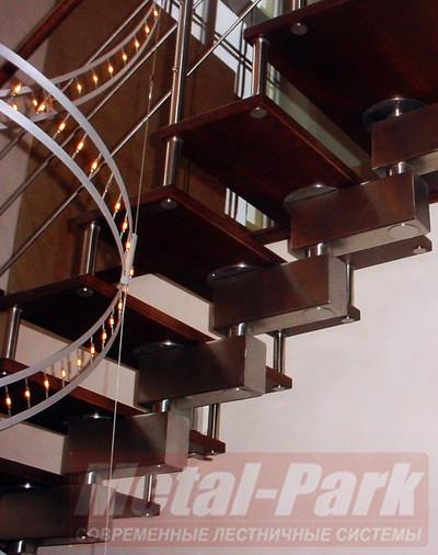 Изготовление дизайнерских модульных лестниц1