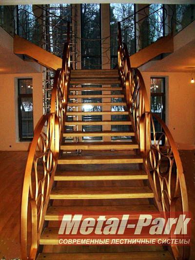 Изготовление парадных металлических лестниц