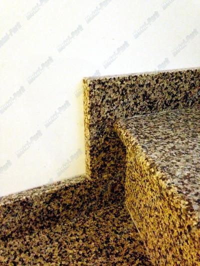 Облицовка бетонных лестничных маршей кварцевым агломератом