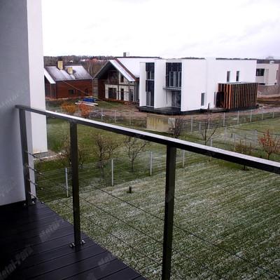 Ограждения с тросами для балконов
