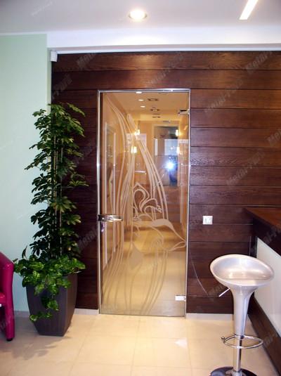 Стеклянная распашная дверь, дверная коробка из нержавеющей стали